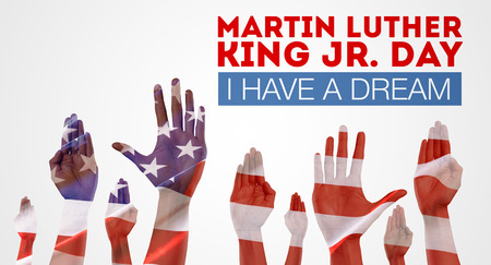 Happy martin luther king day background Banque d'images