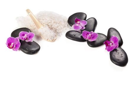 zen stone and orchid. spa concept Reklamní fotografie