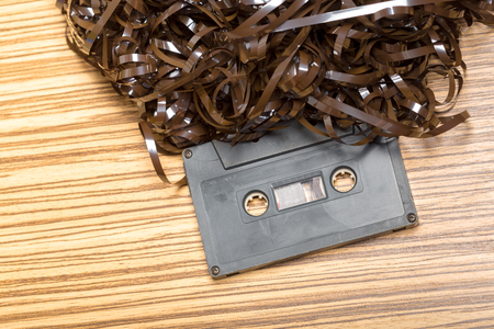 Cassette tape with pull-out tape