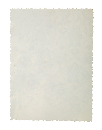 Old paper on white background.