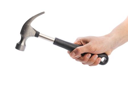 hammer isolated on a white background Standard-Bild