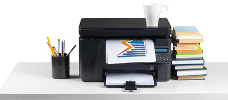office desktop printer 免版税图像