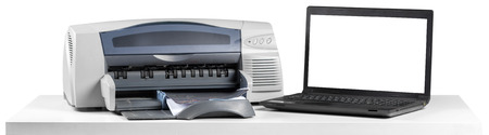 office desktop printer Standard-Bild