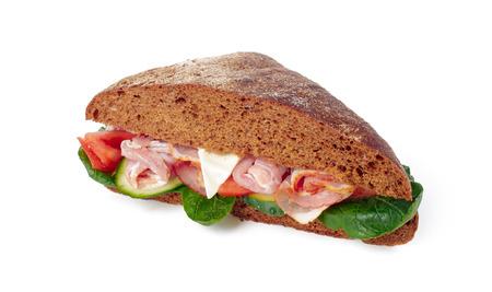 sandwich on white background Reklamní fotografie