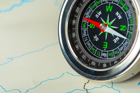 compass on map background travel Stock Photo