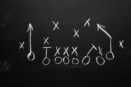 Footbal play strategy Stock Photo