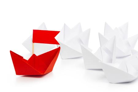 winner red paper ship Imagens
