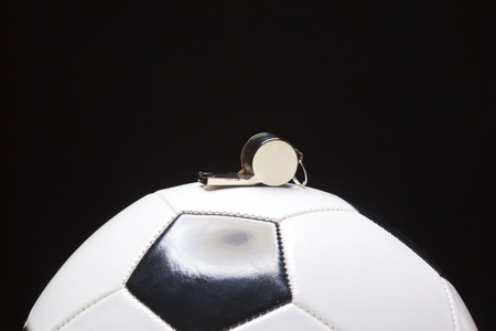 Football ball with whistle Archivio Fotografico