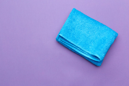 spa towels, top view Stock Photo