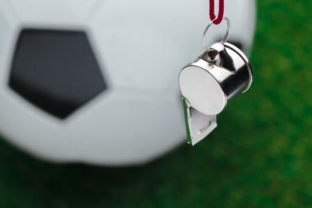 Football ball with whistle Imagens