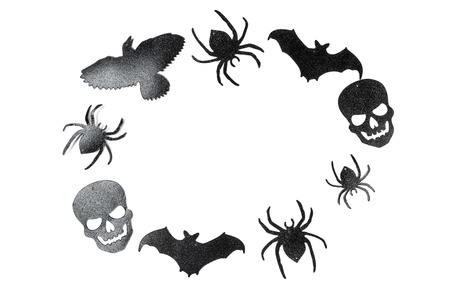 halloween, decoration and scary concept Stock Photo