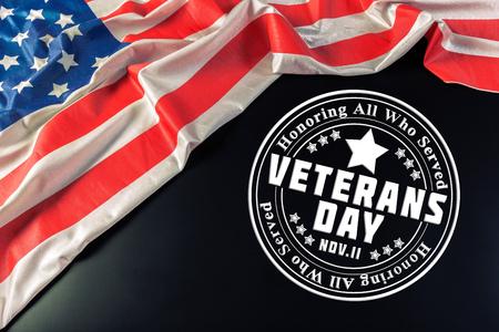 composite of veterans day flag Stock Photo
