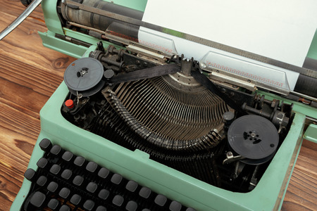 Antique Typewriter. Vintage Typewriter Machine Stockfoto