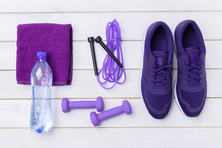 Sports Fitness concepts with Gym equipment
