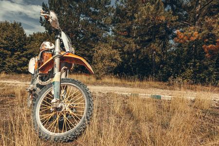Orange Motorcross Bike