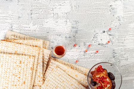 traditional Jewish kosher matzo for Easter pesah Stock Photo