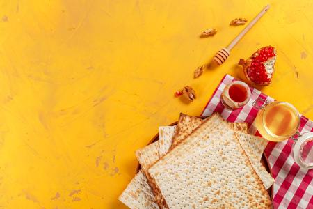 traditional Jewish kosher matzo for Easter pesah Stock Photo