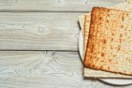 Jewish traditional Passover matzo bread Stok Fotoğraf