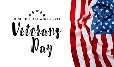 composite of veterans day flag Standard-Bild