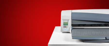 Printer, copier, scanner. Office table Standard-Bild