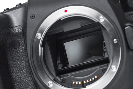 Closeup view of digital camera Stockfoto