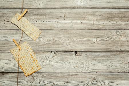 Jewish traditional Passover matzo bread Stock Photo