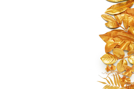 golden leaf design elements.