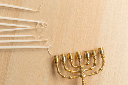 Ancient ritual candle menorah