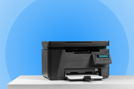 Printer, copier, scanner. Office table Stock Photo
