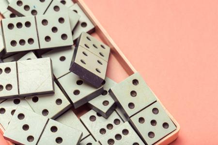 Closeup of domino game Stock Photo