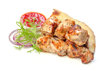 Isolated roasted meat