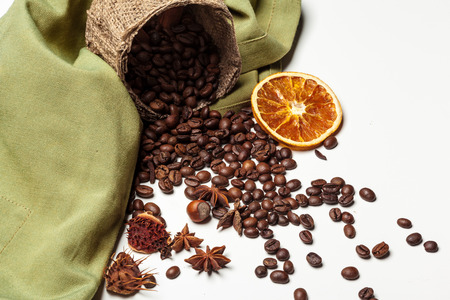 Coffee beans. Isolated on a white background 免版税图像