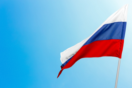 Flag of Russia waving Standard-Bild