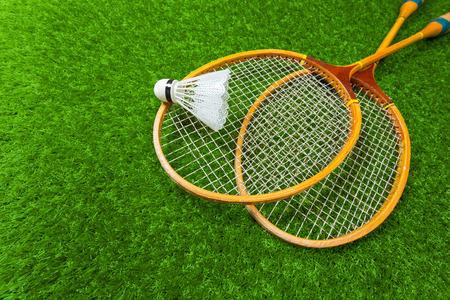 Badminton on grass