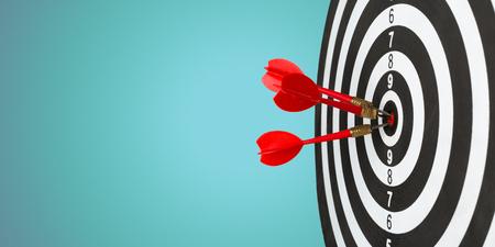 Darts arrows in the target center 写真素材 - 119340784
