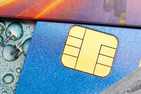 Credit card close up shot