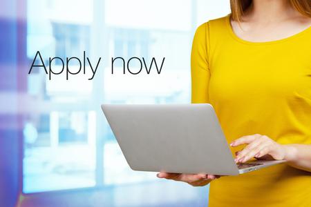 Apply now jobs Stock Photo - 119304888