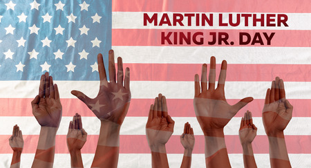 Happy martin luther king day background Stock Photo