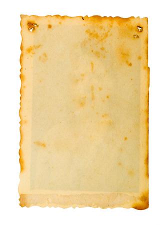 Old paper on white background. Standard-Bild - 119704324