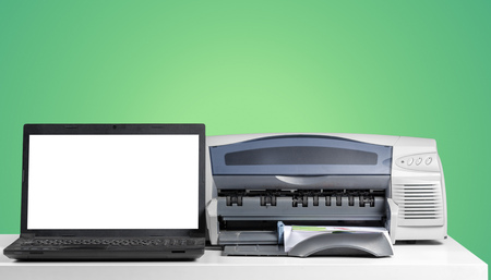 Printer copier machine on a bright colored background 版權商用圖片 - 119704558