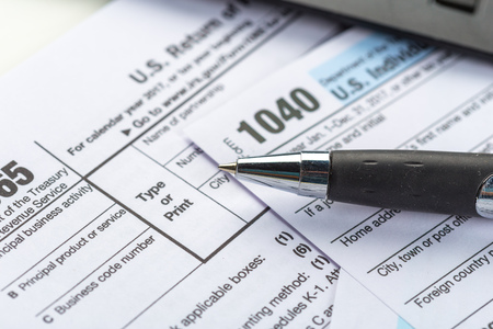 Tax forms, close up Stock Photo