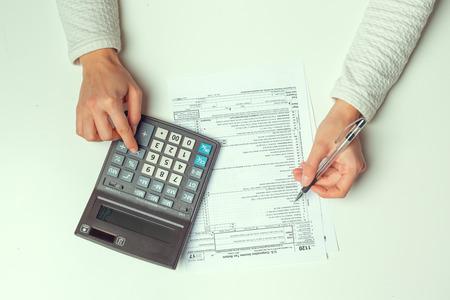 Tempo delle tasse. Immagine di concetto.