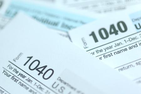 Tempo delle tasse. Immagine di concetto. Archivio Fotografico