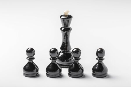 Chess isolated on white background. creative photo Zdjęcie Seryjne