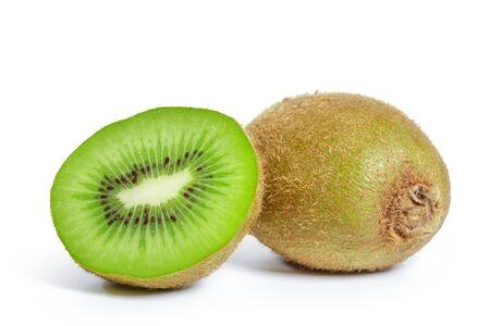kiwi fruits isolated on white background. Creative Photo