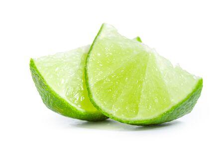 Lime isolated on white background. creative photo