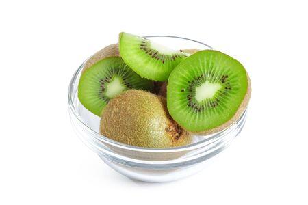 kiwi fruits isolated on white background Banco de Imagens