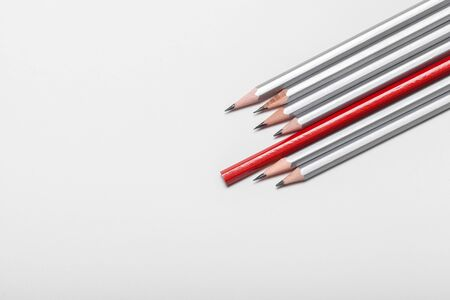 Group of pencils isolated on white background Stockfoto