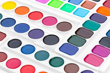 Set of watercolor paints. Creative Photo