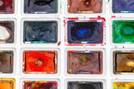 Set of watercolor paints. creative photo 写真素材